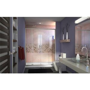 DreamLine Visions Alcove Shower Kit - 34-in- Left Drain - Brushed Nickel