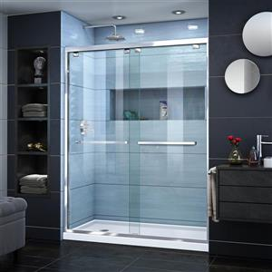 DreamLine Encore Alcove Shower Kit - 34-in x 60-in - Left Drain - Chrome