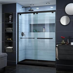 DreamLine Encore Alcove Shower Kit - 30-in x 60-in - Left Drain - Black