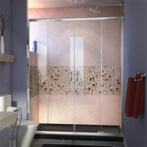 DreamLine Visions Alcove Shower Kit - 30-in x 60-in - Right Drain - Chrome