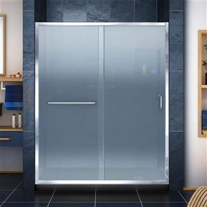 DreamLine Infinity-Z Alcove Shower Kit - 34-in x 60-in - Right Drain - Chrome