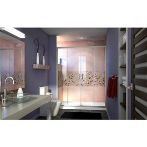DreamLine Visions Alcove Shower Kit - 36-in - Center Drain - Nickel