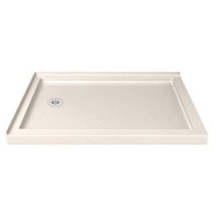 DreamLine SlimLine Corner Shower Base - 36-in x 48-in - Off-white