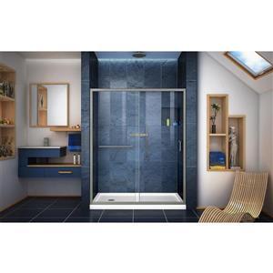 DreamLine Infinity-Z Alcove Shower Kit - 32-in x 60-in - Nickel Hardware