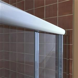 DreamLine Visions Alcove Shower Kit - 30-in- Left Drain - Brushed Nickel