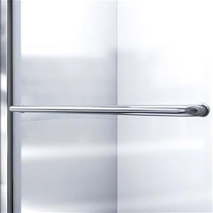 DreamLine Infinity-Z Alcove Shower Kit - 36-in x 48-in - Center Drain - Nickel