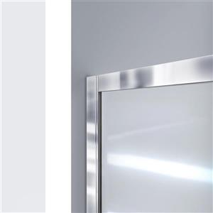 DreamLine Infinity-Z Alcove Shower Kit - 36-in x 48-in - Center Drain - Nickel