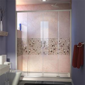 DreamLine Visions Alcove Shower Kit - 30-in x 60-in - Right Drain - Nickel