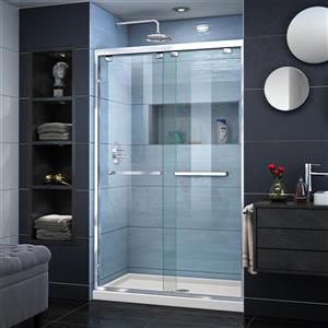 DreamLine Encore Alcove Shower Kit - 34-in x 48-in - Glass Door - Chrome