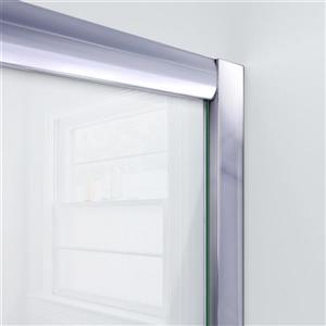 DreamLine Visions Alcove Shower Kit - 32-in x 60-in- Center Drain - Chrome