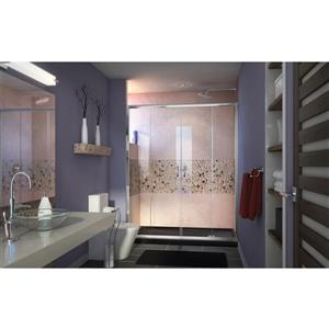 DreamLine Visions Alcove Shower Kit - 34-in - Right Drain - Chrome