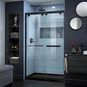 DreamLine Encore Alcove Shower Kit - 32-in - Center Drain - Satin Black