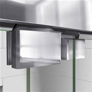 DreamLine Encore Alcove Shower Kit - 34-in x 48-in - Center Drain - Chrome