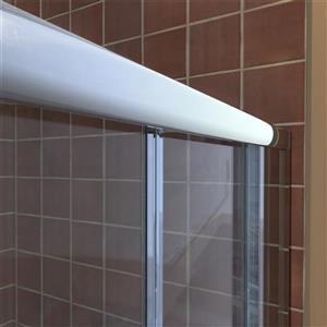 DreamLine Visions Alcove Shower Kit - 34-in x 60-in- Center Drain - Nickel