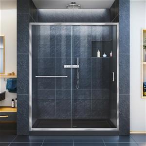 DreamLine Infinity-Z Alcove Shower Kit - 30-in x 60-in - Chrome