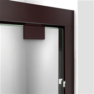 DreamLine Encore Alcove Shower Kit - 30-in - Right Drain - Dark Bronze