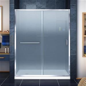 DreamLine Infinity-Z Alcove Shower Kit - 30-in x 60-in- Glass Door - Chrome