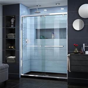 DreamLine Encore Alcove Shower Kit - 32-in - Center Drain Base - Chrome