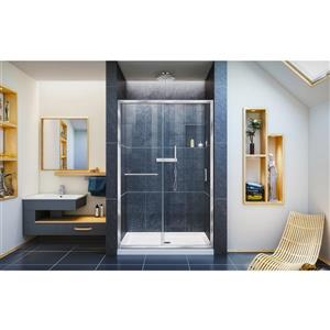 DreamLine Infinity-Z Alcove Shower Kit - Glass Panels - 36-in x 48-in - Chrome
