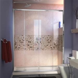 DreamLine Visions Alcove Shower Kit - 34-in x 60-in- Glass Panels - Chrome