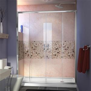 DreamLine Alcove Shower Kit - 34-in x 60-in- Glass Door - Chrome