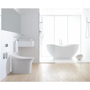 KOHLER Veil Intelligent Elongated Dual-Flush Toilet - White