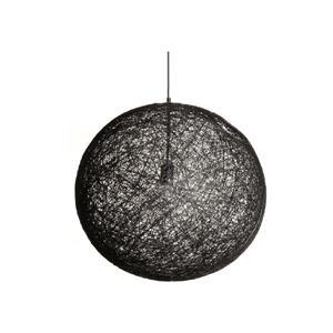 """Plata Decor Rope Pendant Light - Black - 23.5"""""""