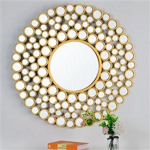 Plata Decor Kooza Wall  Mirror -  Gold - 42-in