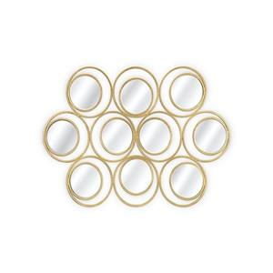 Plata Decor Toruk Gold Mirror - 55-in x 38-in