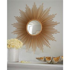 Plata Decor Sun Gold Mirror - 40-in