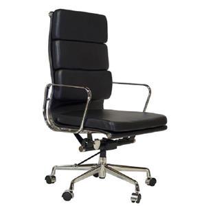 Plata Decor Lark High Back Executive Office Chair - Black