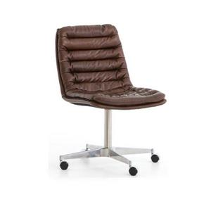 Plata Decor Ronin Leather Office Chair - Brown Leather