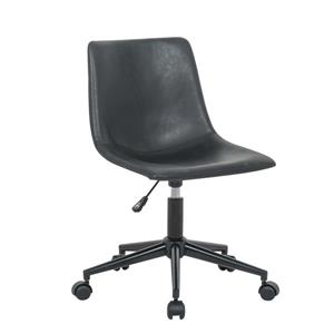 Plata Decor Solei Office Chair - Black - 5-Wheels