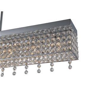 OVE Decors Castello DEL Pendant Light - Chrome - 5-Lights