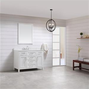 OVE Decors Tahoe White Vanity, sink/mirror/Cultured Marble Top - 48-in