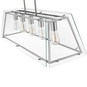 OVE Decors Evan V LED Pendant Light - 1-Light  - Chrome