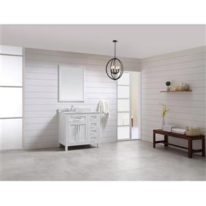 OVE Decors Tahoe White Vanity, sink/mirror/Cultured Marble Top - 36-in