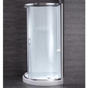 OVE Decors Breeze Corner Shower Kit with Door, Base & Walls - 34-in