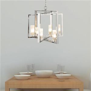OVE Decors Woburn Pendant Light LED - 6-Lights - Chrome