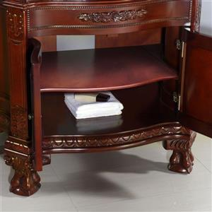 OVE Dcors Buckingham Vanity - Cherry and Black Granite Top - 36-in