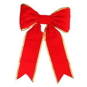 Northlight Commercial Christmas Bow - 30-in x 50-in - Red/Gold