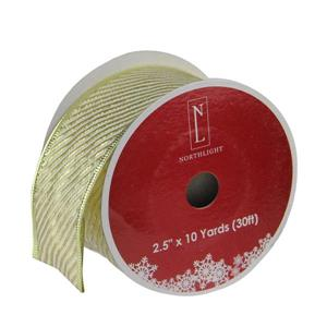 Northlight Striped Christmas Craft Ribbon - 12 pack - Gold