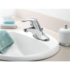 Moen Château Bathroom Faucet With Drain- One-Handle -  Brushed Chrome