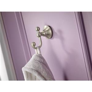 Moen Wynford Double Robe Hook -  Brushed Nickel