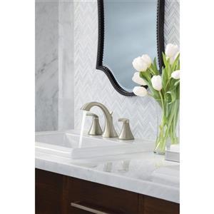 Moen Voss High Arc Bathroom Faucet -  2-Handle - Brushed Nickel (Valve Sold Separately)