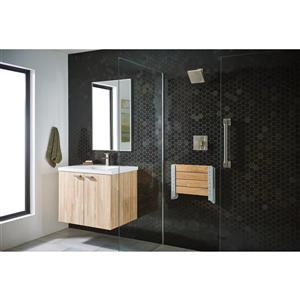 Moen 90 Degree Modern Bathroom Faucet -  1-Handle - Brushed Nickel