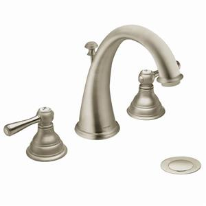 Moen Kingsley Bathroom Faucet -  2-Handle - Brushed Nickel (Valve Sold Separately)