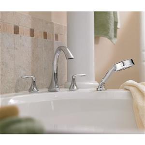 Moen Eva Bathtub Faucet with Hand Shower - 2-Handle - Brushed Nickel