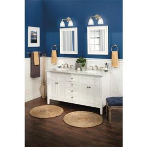 Moen Brantford High Arc Bathroom Faucet -  2-Handle - Brushed Nickel (Valve Sold Separately)