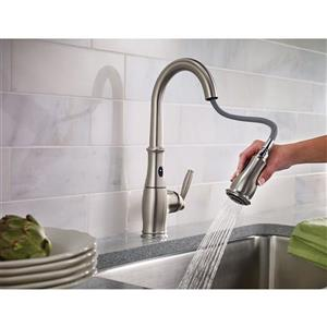 Moen Brantford Collection MotionSense Pulldown Kitchen Faucet - 1-Handle - Stainless Steel